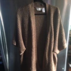 Gold Kimono-style Sweater Jacket -Alfred Dunner -8